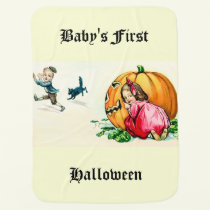 Vintage Baby's First Halloween Baby Blanket