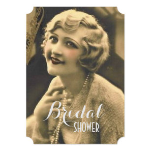 vintage bachelorette party gatsby bridal shower invitation