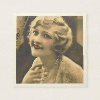 vintage bachelorette Party Gatsby bridal shower Paper Napkin