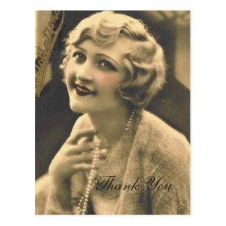 vintage bachelorette Party Gatsby bridal shower Postcard