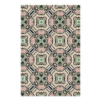 Vintage Background Abstract Basrelief Kaleidoscope Stationery