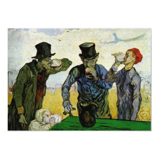 Vintage Backyard BBQ Party, Van Gogh, The Drinkers Card