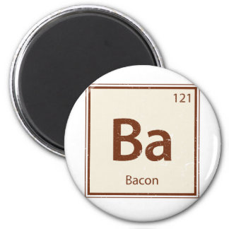 Vintage BACON Periodic Table 2 Inch Round Magnet