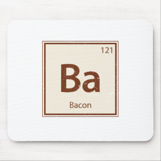 Vintage BACON Periodic Table Mouse Pad