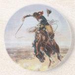 Vintage Bad Hoss, Charles M. Russel Drink Coasters