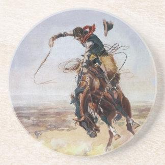 Vintage Bad Hoss, Charles M. Russel Sandstone Coaster