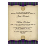 Vintage Baillie Tartan Plaid Wedding Invitations