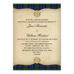 Vintage Baird Tartan Plaid Wedding Invitations