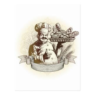Vintage Baker Postcard