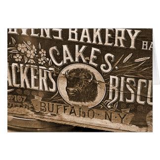 Vintage Bakery Ad Card