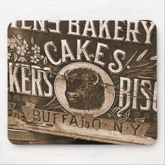 Vintage Bakery Ad Mousepad