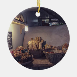Vintage bakery and pastry shop interior design ceramic ornament
