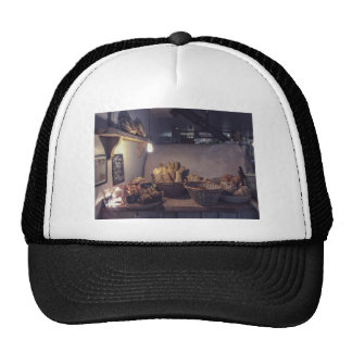 Vintage bakery and pastry shop interior design trucker hat