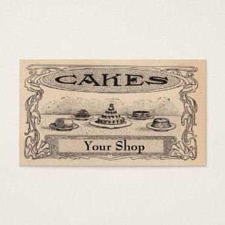 Vintage Bakery business Cards
