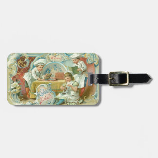 Vintage Baking with Chocolate Advertising Bag Tag