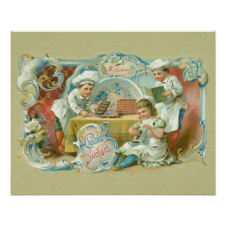 Vintage Baking with Chocolate Advertising Posters
