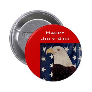 Vintage Bald Eagle on American Flag 4 July Pins