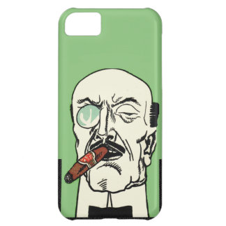 Vintage Bald Gentleman with Cigar and Monocle iPhone 5C Covers
