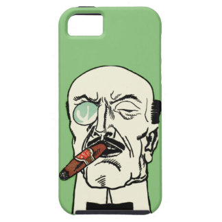 Vintage Bald Gentleman with Cigar and Monocle iPhone SE/5/5s Case