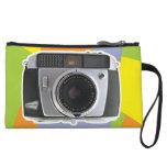 Vintage Baldamatic camera geometric pattern Wristlet Clutch