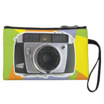 Vintage Baldamatic camera geometric pattern Wristlet Wallet