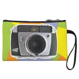 Vintage Baldamatic camera geometric pattern Wristlet Wallet