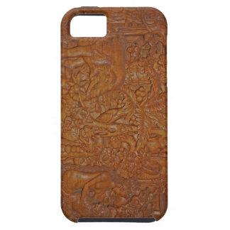 Vintage Bali Wood Art iPhone SE/5/5s Case