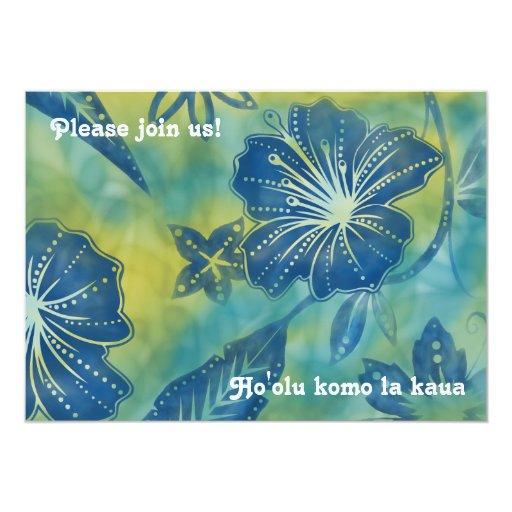 """Vintage Balinese Batik Luau Invitations 5"""" X 7"""" Invitation Card"""