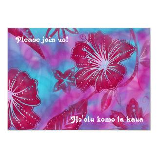 Vintage Balinese Batik Luau Invitations