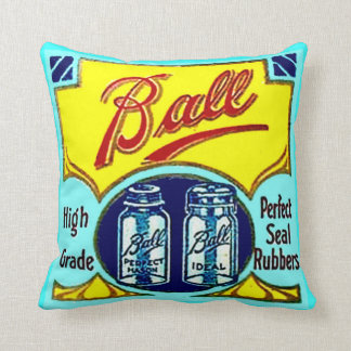 Vintage Ball Kitchen Home Canning Fruit Jars Rings Throw Pillow