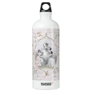 Vintage Ballerina and Typography Aluminum Water Bottle