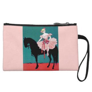 Vintage Ballerina Circus Horse Clown poster Wristlet Wallet