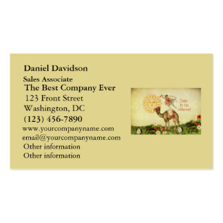 Vintage Ballerina, Flowers, and Camel Collage Double-Sided Standard Business Cards (Pack Of 100)