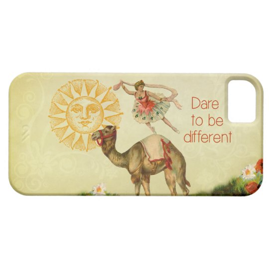 Vintage Ballerina, Flowers, and Camel Collage iPhone SE/5/5s Case