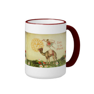 Vintage Ballerina, Flowers, and Camel Collage Coffee Mugs