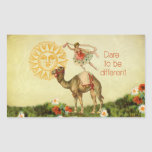 Vintage Ballerina, Flowers, and Camel Collage Sticker