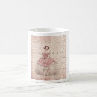 Vintage Ballerina Girl in a Pink Tutu Coffee Mug