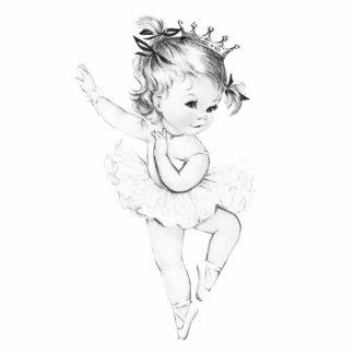 Vintage Ballerina Princess Baby Girl Shower Acrylic Cut Outs
