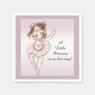 Vintage Ballerina Princess Baby Shower Napkin