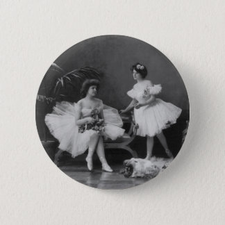 Vintage Ballerinas After the Encore Pinback Button