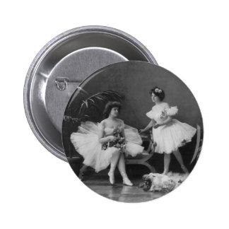 Vintage Ballerinas After the Encore Pinback Button