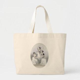 Vintage Ballerinas Jumbo Tote Bag