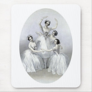 Vintage Ballerinas Mouse Pad