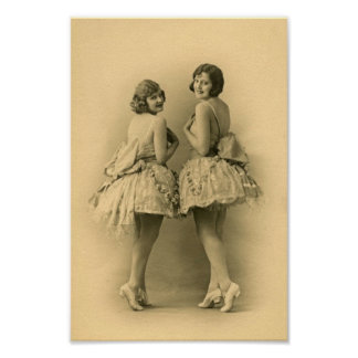Vintage Ballerinas Print