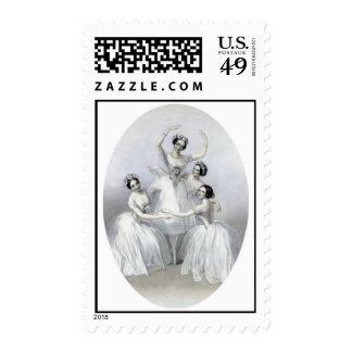 Vintage Ballerinas Stamps
