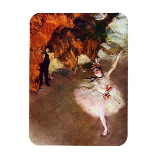 Vintage Ballet Art, Prima Ballerina by Edgar Degas Rectangular Photo Magnet