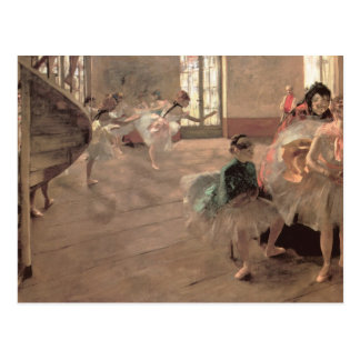 Vintage Ballet Art, The Rehearsal by Edgar Degas Postcard