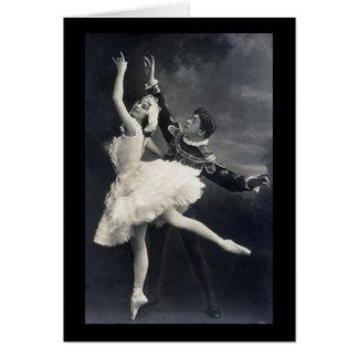 Vintage Ballet Dancers Card
