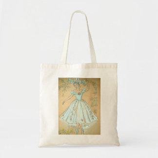Vintage Ballet Design Tote Bag