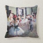 Vintage Ballet, The Dance Class by Edgar Degas Pillows